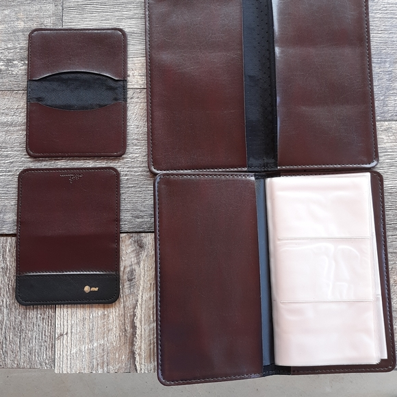 Vintage AT&T Leather business card holders